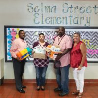 School supplies to Selma Elementary School